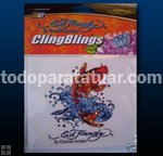 "Ed Hardy ""Koi"" Cling Bling Decal"